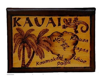 KAUAI - Leather Travel Photo Album - Handcrafted
