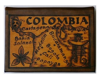 COLOMBIA - Leather Travel Photo Album - Handcrafted