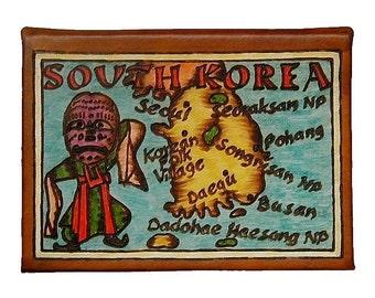 SOUTH KOREA - Leather Travel Photo Album - Handmade