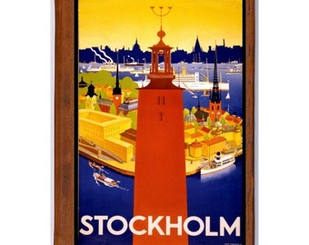 STOCKHOLM 1- Handmade Leather Photo Album - Travel Art