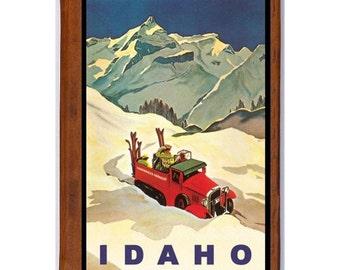 IDAHO 1- Handmade Leather Journal / Sketchbook - Travel Art