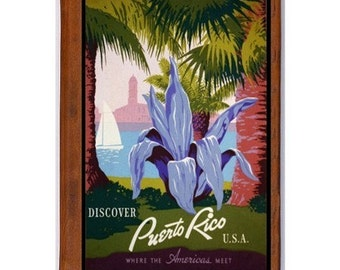 HANDMADE leather JOURNAL / SKETCHBOOK - PUERTO RICO 1- TRAVEL ART