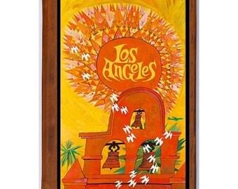 LOS ANGELES 1- Handmade Leather Journal / Sketchbook - Travel Art