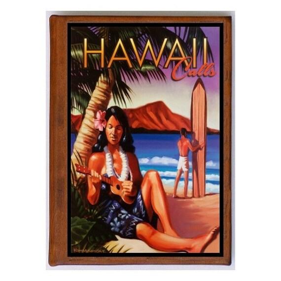 HAWAII 9- Handmade Leather Journal / Sketchbook - Travel Art