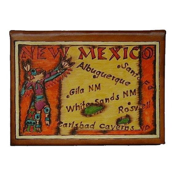 NEW MEXICO - Leather Travel Photo Album - Handmade