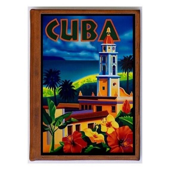 CUBA 6- Handmade Leather Photo Album - Travel Art