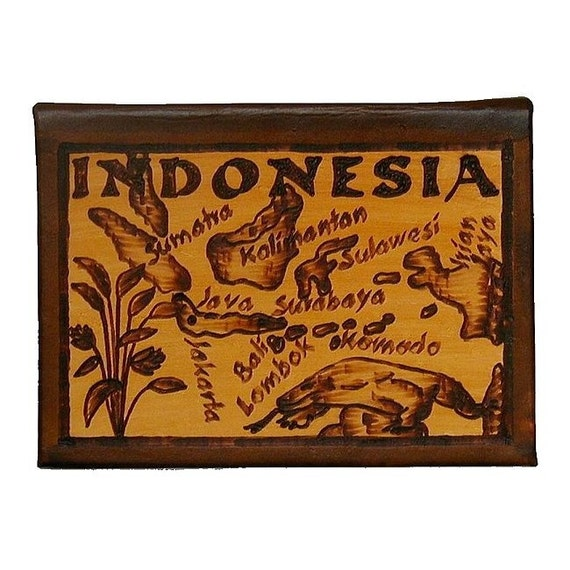 INDONESIA - Leather Travel Journal / Sketchbook - Handcrafted