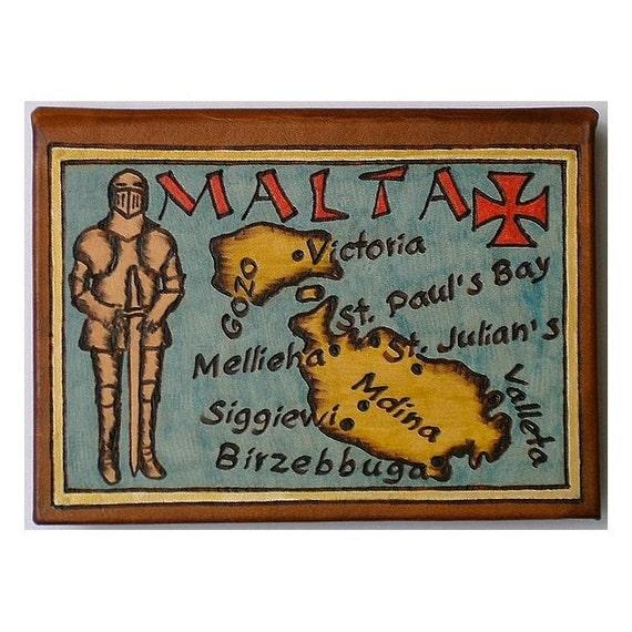 MALTA - Leather Travel Photo Album - Handmade