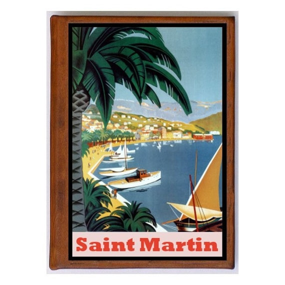 SAINT MARTIN 1- Handmade Leather Photo Album - Travel Art
