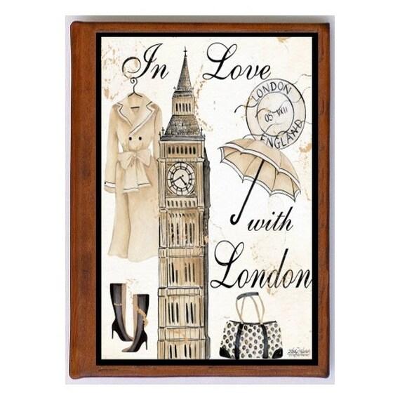 LONDON 1- Handmade Leather Photo Album - Travel Art