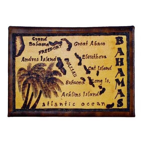 BAHAMAS - Leather Travel Photo Album - Handcrafted