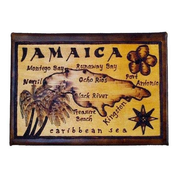 JAMAICA - Leather Travel Photo Album - Handcrafted