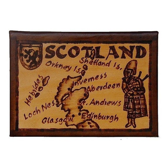SCOTLAND - Leather Travel Photo Album - Handcrafted