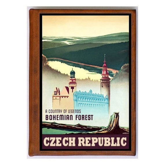 CZECH REPUBLIC 3- Handmade Leather Photo Album - Travel Art