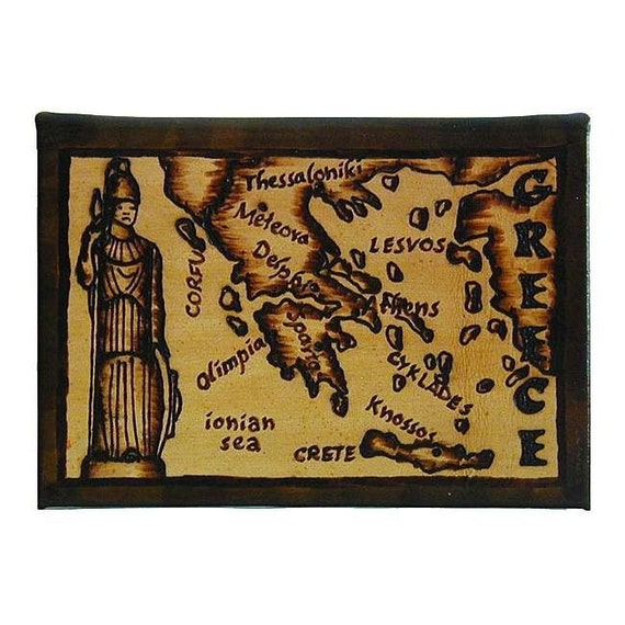 GREECE - Leather Travel Photo Album - Handcrafted