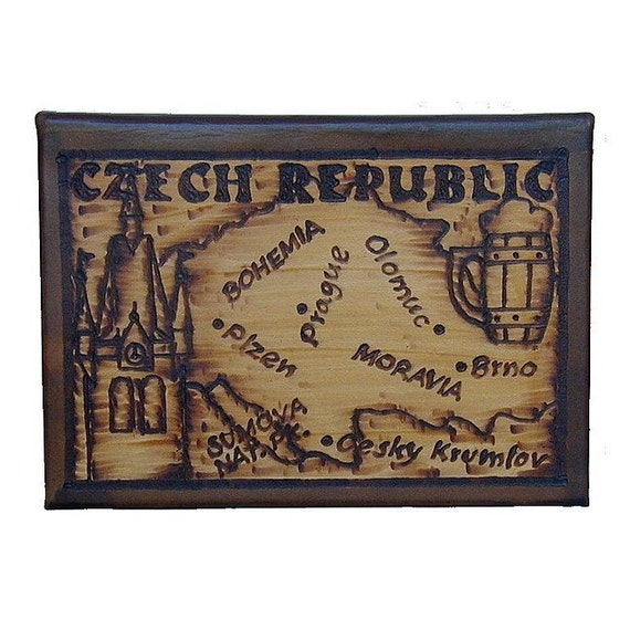 CZECH REP. - Leather Travel Photo Album - Handcrafted