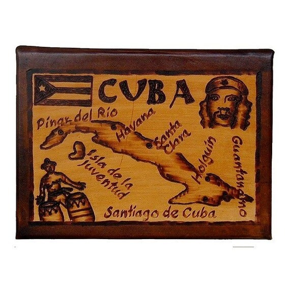 CUBA - Leather Travel Scrapbook / Journal - Handcrafted
