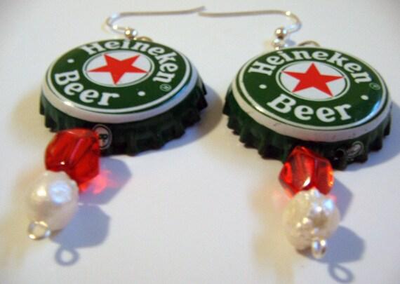 Items similar to recycled heineken beer bottle cap - Beer bottle caps recyclable ...