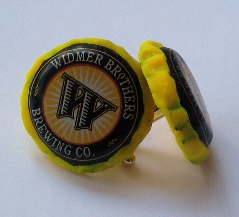 Widmer brothers recycled beer bottle cap cufflinks by - Beer bottle caps recyclable ...
