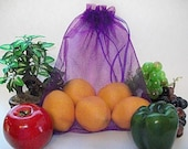 4 Large Reusable Produce Bags in Purple- Donated by Ecofriendly4u