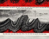 Vintage 1918 Plate Tectonics Infographics Crumpling and Wearing of the Earth
