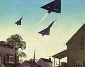 Vintage Print Ad Convair 1955 U S Air Force F-102A Freedom New Sound