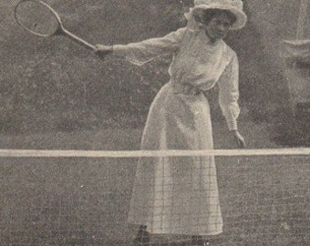 1899 Victorian How to Play Tennis Hat and Gown Required