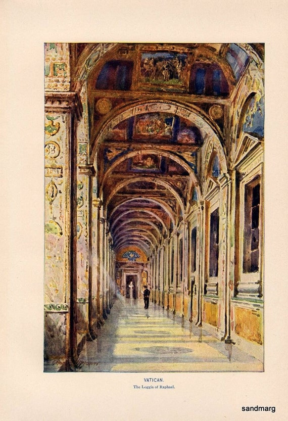 1907 The Vatican The Loggia of Raphael Charles E Flower