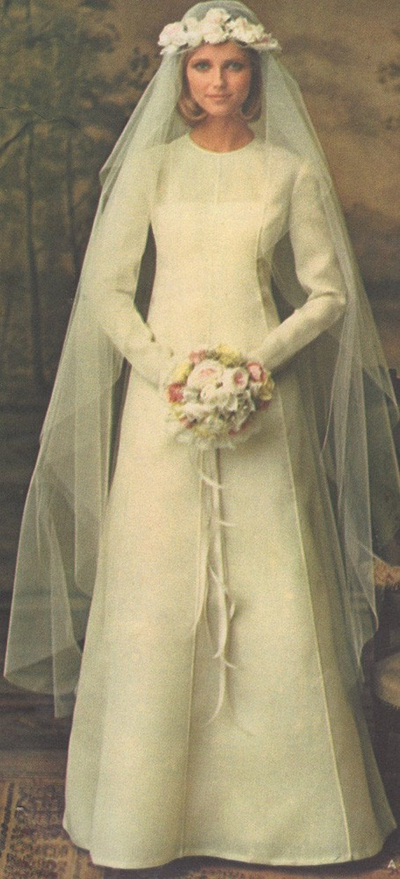 Vintage vogue paris original 1077 nina ricci misses bridal for Vintage wedding dresses paris