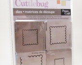 Cuttlebug Scallop Squares 2 x 2 Set of 4 Dies by Provo Craft