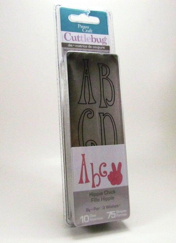 Cuttlebug hippie chick alphabet dies by provo craft for Www cuttlebug crafts com