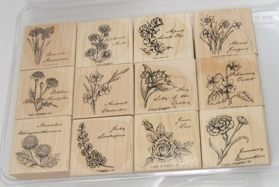 Stampin Up Flower of the Month Stamp Set Retired