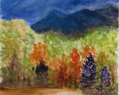 Foothills - Watercolor painting 7X10