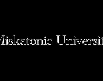 Miskatonic University LARGE Vinyl Decal