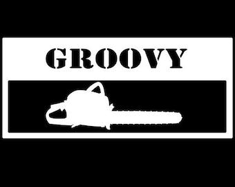 GROOVY Evil Dead inspired vinyl decal