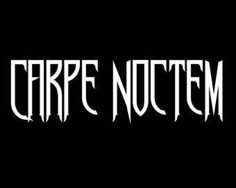 Carpe Noctem - Sieze the Night Gothic Vinyl Car Decal
