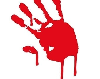 Bloody Handprint - gory horror vinyl decal