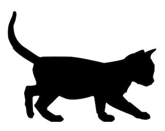 Kitten - Black Cat Vinyl Wall Decal - Animal Art