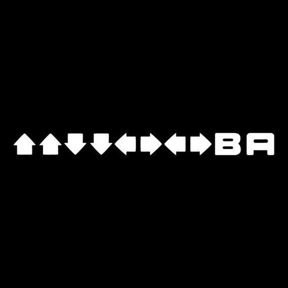 Konami Code - Geeky Video Game Vinyl Decal