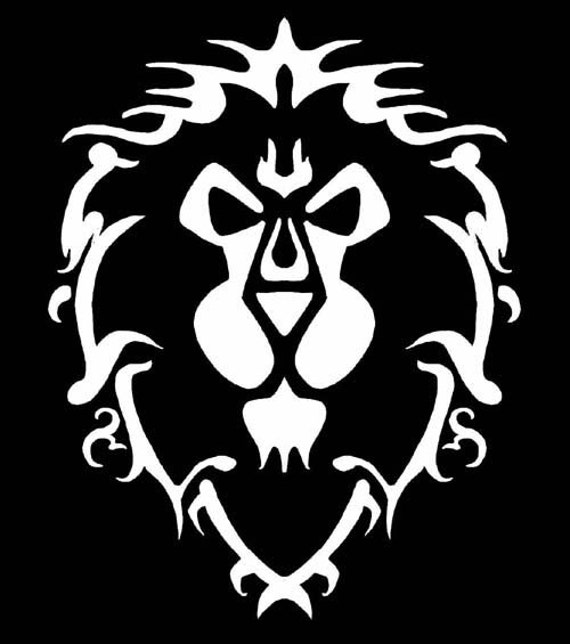 Alliance Lion World Of Warcraft Vinyl Decal By Geekazoid