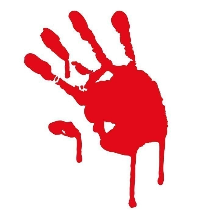 Bloody Handprint Gory Horror Vinyl Decal By Geekazoid On Etsy