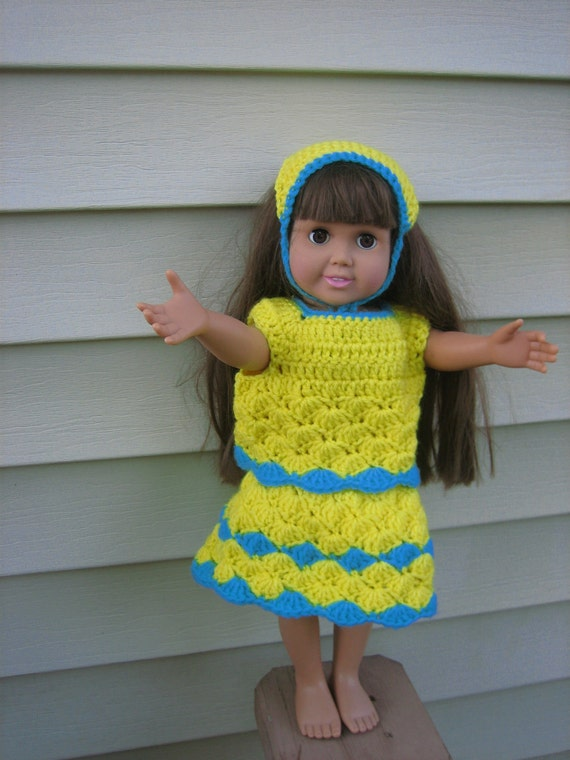 Items similar to American Girl Doll Crochet Pattern - 3 pc ...