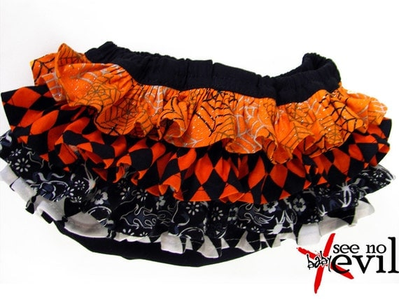 Halloween Spiderweb Ruffle Bloomers