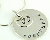 Hand Stamped Nurture Pendant donation to March of Dimes