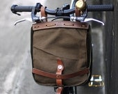 vintage khaki swiss military bike bag