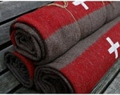 reserved for winstonmom - authentic Swiss Army wool blanket