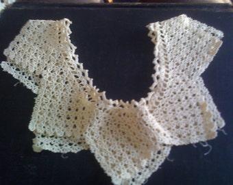 vintage ANTIQUE filet lace collar CIRCA 1910