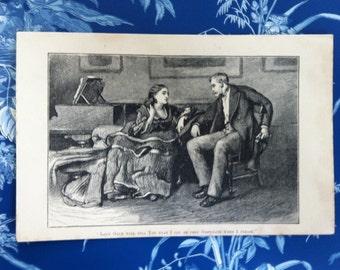 vintage print - Blossoming Romance