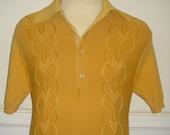 1960's Mustard Yellow Towncraft Rockabilly Shirt s\/m