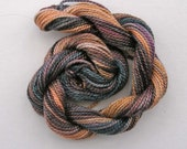 Hand dyed cotton perle 5 embroidery yarn - granite